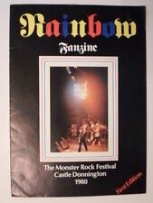 RAINBOW FANZINE THE MONSTER ROCK FESTIVAL CASTLE DONNINGTON 1980 FIRST EDITION