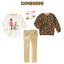 "Gymboree Girls ""Right Meow"" 4pc Set Top/Cardigan/Jeans/hairclip Size 5 $104**"