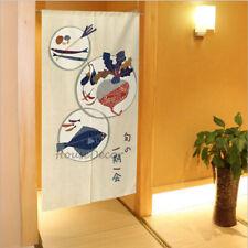 Japanese Noren Drape Door Divider Tapestry Kitchen Doorway Decoration Curtains