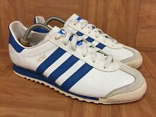 RARE� Adidas ROM Made In USA Men's Vintage Sneakers SZ 6 White Classic  Blue Men