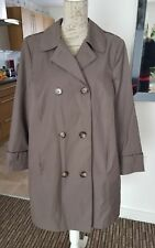 NEW WOMENS COLLECTION DEBENHAMS KHAKI GREEN DOUBLE BREASTED TRENCH COAT UK 18!
