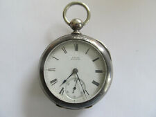 RARE R. E. ROBBINS 18S WALTHAM 1877 MODEL KEY WIND POCKET WATCH 3 OZ COIN SILVER