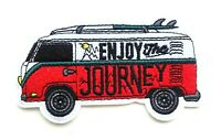 Camper Van Patch 10cm x 6cm Embroidered Iron Sew On Camping Love Surfing Hippy