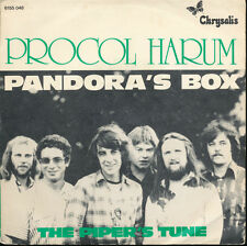 Procol Harum Pandora's Box / The Piper's Tune Belgium Import 45 W/Picture Sleeve
