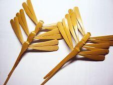 50 pcs Hand carved Bamboo Balancing Dragonflies -Unpainted-natural varnish -4.7'