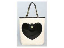 Betsey Johnson Mine & Yours Faux Leather N/s Ivory  Heart Tote Handbag