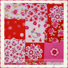 BonEful Fabric FQ Cotton Brushed Corduroy L Asian Flower Pink Red Patchwork Girl