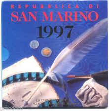 REPUBBLICA SAN MARINO SERIE DIVISIONALE ZECCA 1997 FDC MONETE LIRA