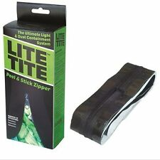 Lite Tite Heavy Duty Peel & Stick Zipper - tarp zip grow room tent doorway