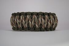 550 Paracord Survival Bracelet King Cobra OD Green/Desert Camo Camping Tactical