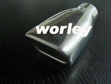 """2"""" inlet Stainless rectangle angle cut outlet rolled Exhaust Tip 7"""" long"""