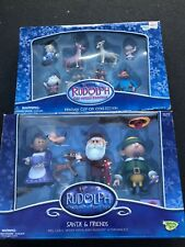 Memory Lane Rudolph and The Island of Misfit Toys Santa and Friend+clip On Lot