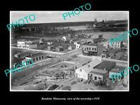 OLD LARGE HISTORIC PHOTO OF BAUDETTE MINNESOTA, VIEW OF THE TOWNSHIP c1910