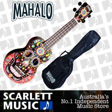 Mahalo Art Series Day of the Dead Soprano Ukulele ( SKBK ) w/Gigbag
