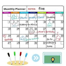 Magnetic Memo Board Calendar for Fridge Dry Erase Board Monthly Plan 16*11.75 In