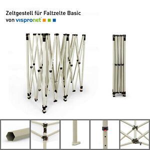 Vispronet Zeltgestell für Faltpavillon Basic, Scherengittersystem, Stahlgestell