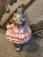 Old World Christmas Ballerina Hippo Hippopotamus Ornament