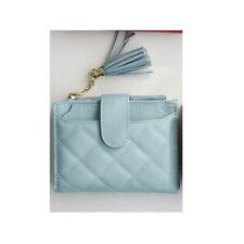 ZENITH Navy Blue Quilted Leather Clutch Zip Around Wallet $110 NEW