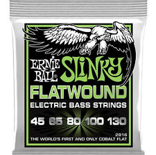 Ernie Ball 2816 Cobalt Flatwound Regular Slinky 5 - String Bass Strings 45-130
