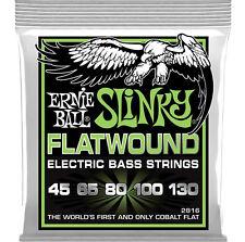 Ernie Ball 2816 Cobalt Flatwound regular Slinky 5-Cuerdas Bajo Cuerdas 45-130