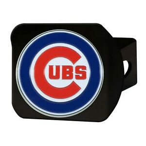 Fanmats MLB Chicago Cubs 3D Color on Black Metal Hitch Cover Delivery 2-4 Days
