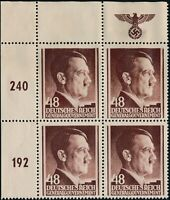 Lot Stamp Germany Poland General Gov't Sc N87 Block 1941 WWII Hitler Top MNG