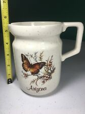 Arizona Creamer Pitcher Or Milk Bowl Butterfly    Flowers For Coffee And Tea b