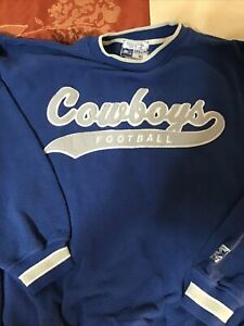 Vintage SEWN Starter Pro Line Blue Dallas Cowboys NFL Heavy Sweatshirt XL