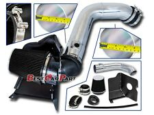 BCP BLACK 2004-2005 Silverado Diesel LLY 6.6L Cold Air Intake System+Heat Shield