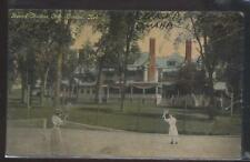 Postcard OMAHA Nebraska/NE  Happy Hollow Golf Course Tennis Court view 1907