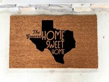 Personalized TX Door Mat Custom Texas  Fathers Day Wedding Gift Present