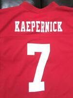 Colin Kaepernick #7 San Francisco 49ers NFL Team Apparel Youth Med Used