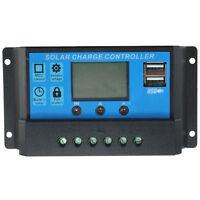 Solar Laderegler LCD 12V/24V USB Schnittstelle fuer Solarmodul Solarpanel MA