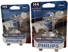 Philips h4 12v 60/55w p43t racing Vision +150% x-treme 2 unid. 12342rvb1
