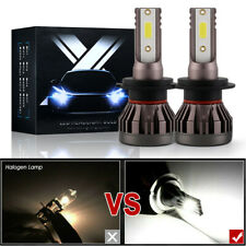 2 x H7 Dob Led Headlight Bulbs Kit High Beam 6000K Xenon Bright White 80W 8000Lm