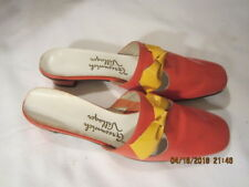 Preowned Vintage Women's Orange Yellow Shoes Size 6 1/2 to 7 Greenwich Villager