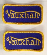 VAUXHALL CLOTH PATCH VELOX VICTOR CRESTA WYVERN VX BEDFORD GRIFFIN BLUE/YELLOW