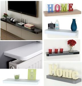 Floating Wooden Wall Shelves Home Decoration Display Unit TV Radiator Shelf New