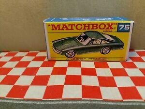 Matchbox Lesney  No75 FERRARI BERLINETTA EMPTY Repro  Box    NO CAR