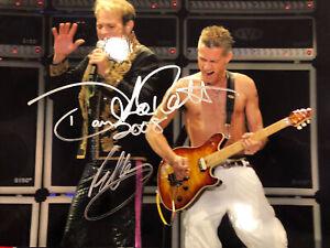 Van Halen Original Photo Autographed By Eddie Van Halen David Lee Roth