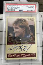 2011 UD Goodwin Champions Wayne Gretzky PSA 10 GEM MINT AUTO AUTOGRAPH POP 1 SP!