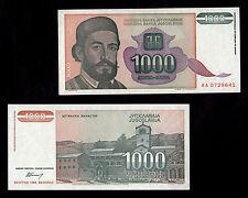 BANCONOTA YUGOSLAVIA 1000  DINARA  FDS BANKNOTE UNC COLORATA UNC