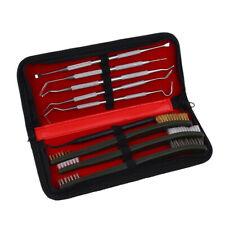 Cleaning Kit Set 3 Brass Steel Nylon Brush + 6 Stainless Steel Nylon Pick 9pcs