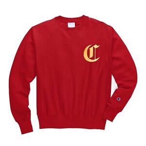 Champion Men's Life Reverse Weave Old English Lettering Crew Sweatshirt - Medium