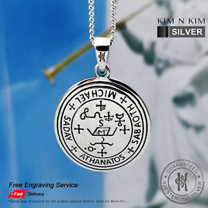 Sigil of the Archangel Michael Pendant Necklace ✔️Free Engraving ✔️925 Silver