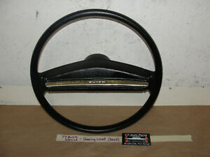 OEM 77 Buick Special STEERING WHEEL WITH HORN PAD **TESTED** - BLACK