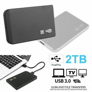 "USB 3.0 2TB 1TB External Hard Drive Disks HDD Ultra Slim 2.5"" Fit For PC Laptop"