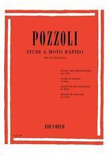 ETTORE POZZOLI - STUDI A MOTO RAPIDO per pianoforte - Ed. Ricordi