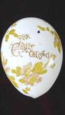 LARGE ANTIQUE HAND BLOWN MILK GLASS EASTER EGG WITH HAND PAINTED DECORATION