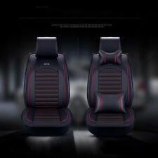 SUV/ Auto/Sedan 5-Seat Car Seat Cover Set Front & Rear Cushion w/Headrest Pillow